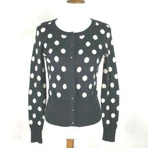 Eyn Cardigan Polka Dot Black White Small